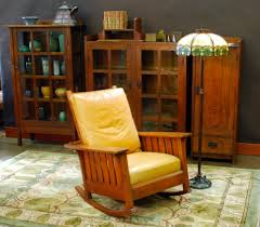 Charles Stickley Rocking Chair by Stickley Rocking Chair Beveled Front Seat Rail With Stickley