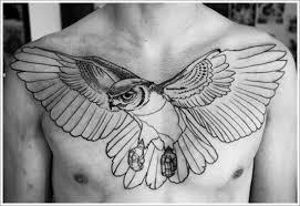 Simple Chest Eagle Tattoo