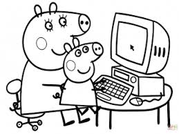 Peppa Pig Coloring Sheets Pages Free