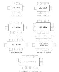 Dining Table Dimensions Standard Width Average Room Size