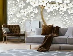 details zu fototapete baum weiß blumen 3d effekt abstrakt kunst wohnzimmer tapete 82