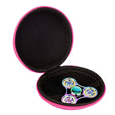 EKIMI Camo Box Case For Hand Spinner EDC Fidget Focus Gyro Toy Dustproof And Delicate Hot Pink