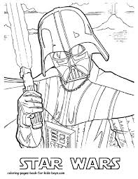 Coloring Pages Free Printable Star Wars Kids For Christmas