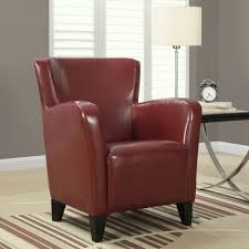 Ilka Leather Armchair In Red | Accent Chairs | Modern Club Chairs