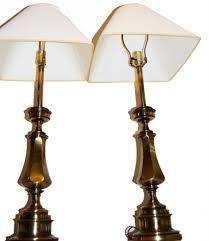 Stiffel Vintage Lamp Shades by Vintage Matching Brass Stiffel Table Lamps