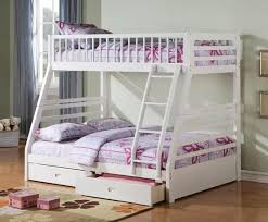 Canyon White Twin Full Bunk Bed – Katy Furniture