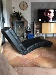 relaxliege wohnzimmer liege schwarz