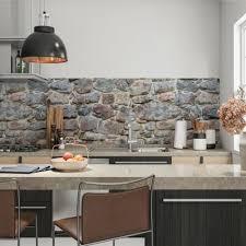 küchenrückwand selbstklebend felsen fliesenspiegel folie