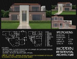 100 Modern Residential Architecture Floor Plans Contemporary Brick House Modern Residential Architecture 3D Model