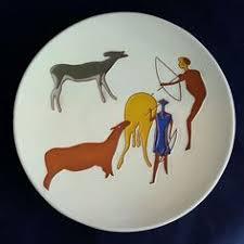 vintage kalahari ware studio pottery hanging wall plate south