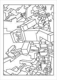 Free Minecraft Colouring Template To Print