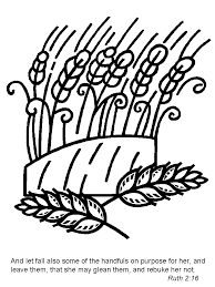 Ruth2 Bible Coloring Pages