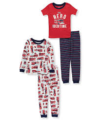 100 Fire Truck Pajamas Amazoncom Carters Boys 12M10 4Pc Truck Pajama Set Clothing