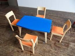 details zu alte puppenstubenmöbel tisch und stühle für küche wohnzimmer