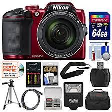 Amazon Nikon Coolpix B500 Wi Fi Digital Camera Red with