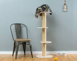 modern cat tower pet furniture etsy il