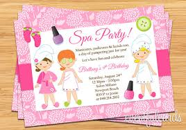 Spa Party Kids Birthday Invitation By EventfulCards