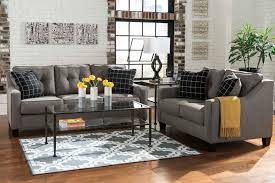 Nolana Charcoal Sofa Set by Living Rooms U003e Sofa U0026 Loveseat Sets Furniture Plus Delaware