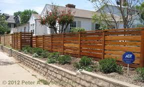CA Contemporary Horizontal Style Fence