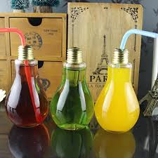 new bottle milk tea glass light bulb water shipping 250ml drink