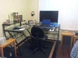 100 glass office desk walmart furniture modern computer