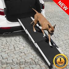 100 Dog Truck Ramp Pet Deluxe Telescoping Aluminum Car Ladder Step