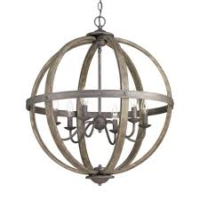 Wrought Iron Orb Chandelier Rectangle Dining Light Rustic Lighting Room Chandeliers Whitewashed