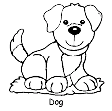 Baby Dog Animal Coloring Page