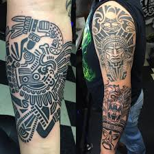 40 Best Aztec Tattoo Sleeve Layout Images On Pinterest