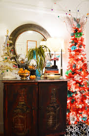 Prelit Christmas Tree That Lifts Itself by Tango Red Lipstick Artificial Pencil Christmas Tree Treetopia