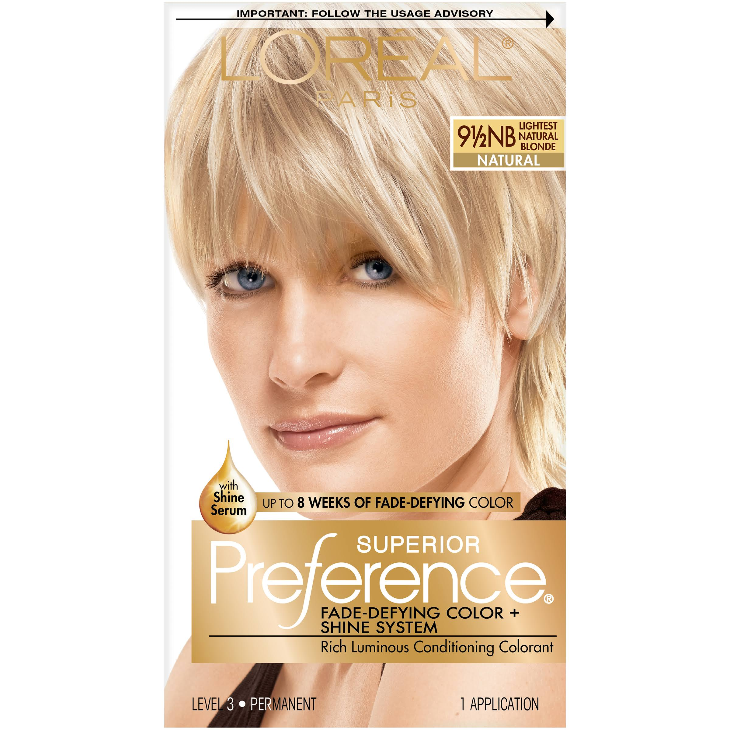 L'Oréal Paris Superior Preference Permanent - 91/2NB Lightest Natural Blonde