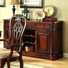 Large Buffet Cabinet Cherry Dining Room Sideboards Server Dark And Hutch