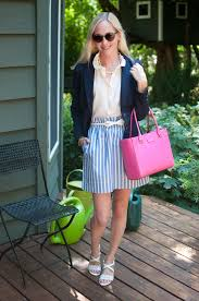 last midwest post navy blazers striped skirts and shocking the