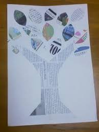 This Is A Simple And Easy Recycled Newspaper Tree Craft It Could Also Be Great Earth Day
