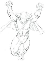 Black Panther Coloring Pages Sketch Drawing
