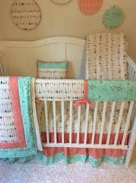 Teal And Coral Baby Bedding by Coral Colored Crib Sheets Crib Bedding Mint And Coral Trending