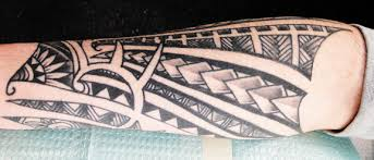 Finished Samoan Polynesian Hawaiian Tattoo