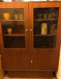 vintage esszimmerschrank vitrine