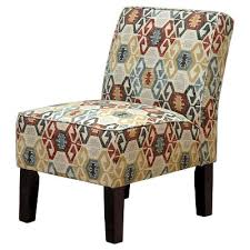 Burke Slipper Chair With Buttons by Burke Accent Print Slipper Chair Polly Aegean Threshold Target