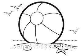 Category 2017 Tags Beach Ball Coloring Page