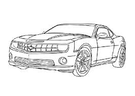 Bumblebee Car Transformers Colouring Page