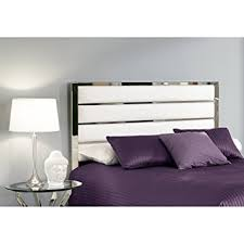 fashion bed group impulse white chrome king headboard b72526