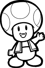 Coloriage De Toad Dans Mario Imprimable Free Coloring Pages Of