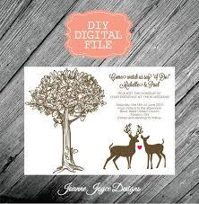 DIY Digital Download Printable Country Wedding Invitation
