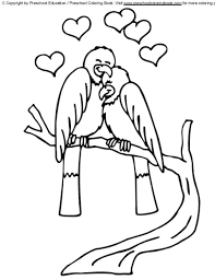 Preschool Coloring Books Free Valentines Day Pages
