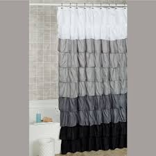 Curtains Bed Bath And Beyond by Maribella Charcoal Ombre Ruffled Shower Curtain
