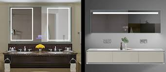 aluminum mirror cabinet manufacturer china hotel lighted led