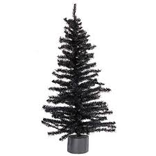 Factory Direct Craft 2 Foot Black Artificial Pine Tree For Christmas Halloween And Year Round