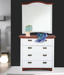 kommode 94cm weiß kirschbaum kiefer massiv spiegel schlafzimmer 424652 ebay