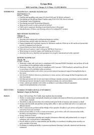 Download Senior Technician Resume Sample As Image File
